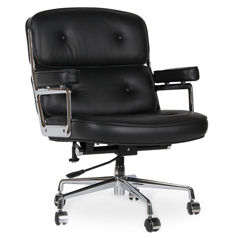 Кресло Eames Style Lobby Chair ES104 черная кожа - вид 1
