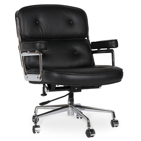 Кресло Eames Style Lobby Chair ES104 черная кожа