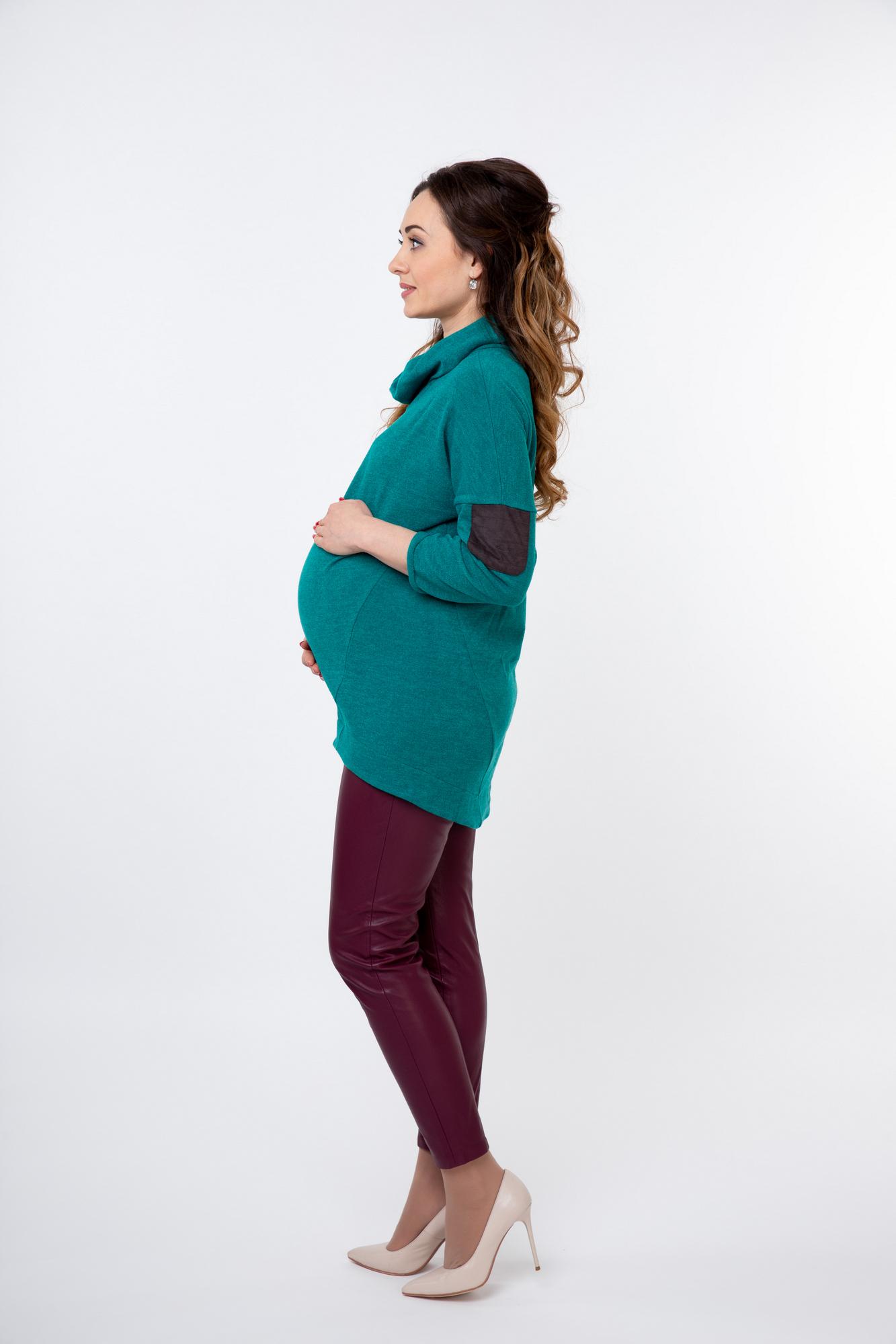 Джемпер для беременных 03808 зеленый