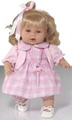 RAUBER Тереза  в розовом платье, 38 см (в коробке) (003804)
