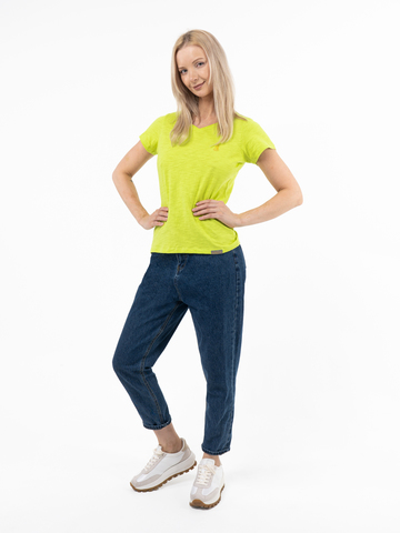 Женская футболка «Великоросс» салатового цвета