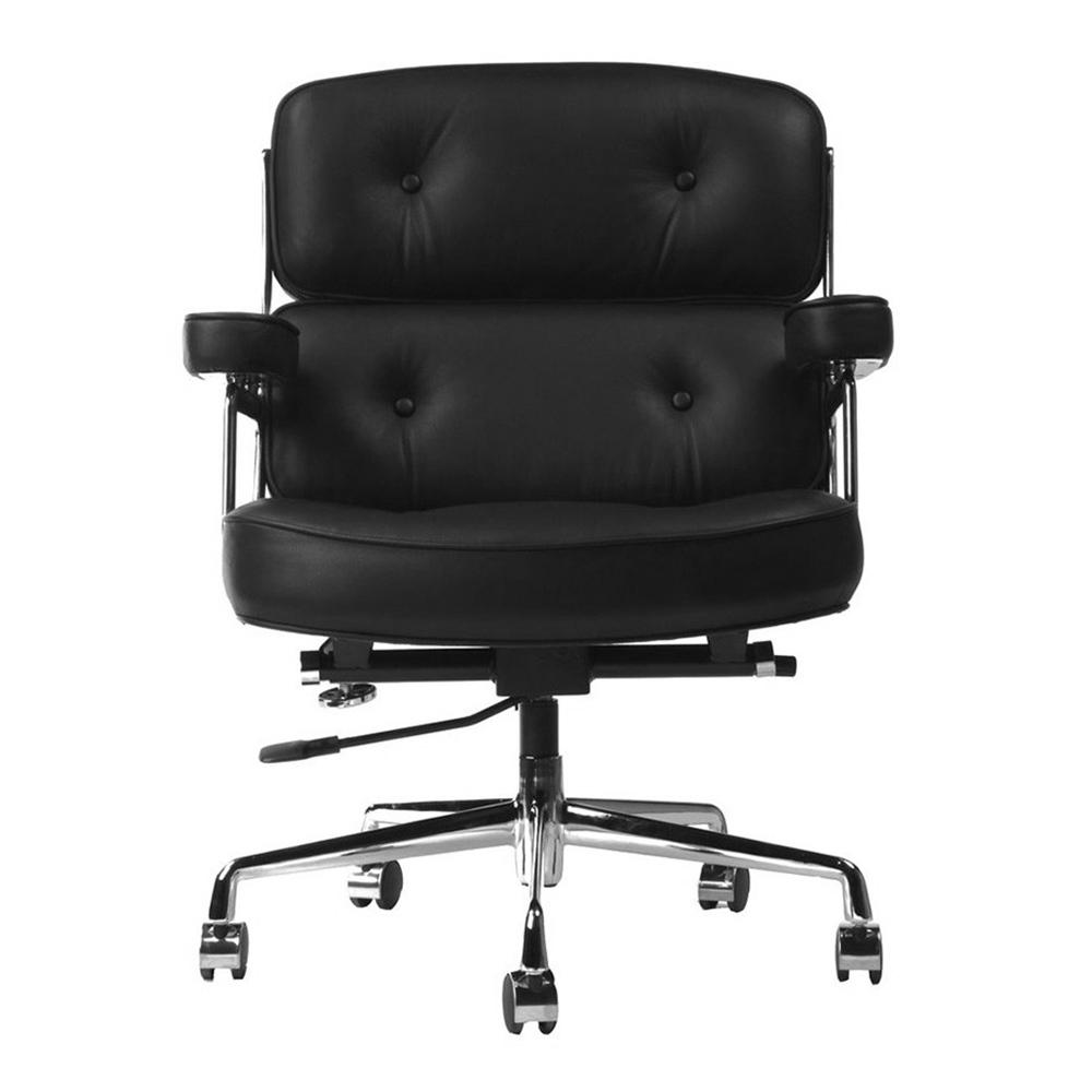 Кресло Eames Style Lobby Chair ES104 черная кожа - вид 3