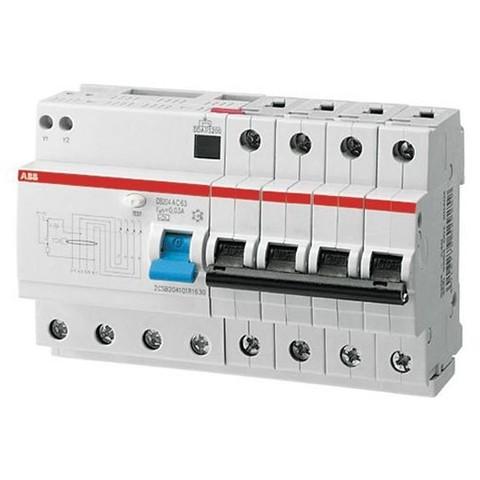 Автоматический выключатель дифференциального тока (АВДТ) DS204 AC-C63/0,03 тип AC ABB