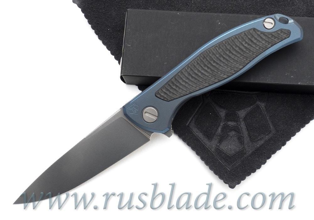 Shirogorov Flipper 95 S30V Blue Anodized