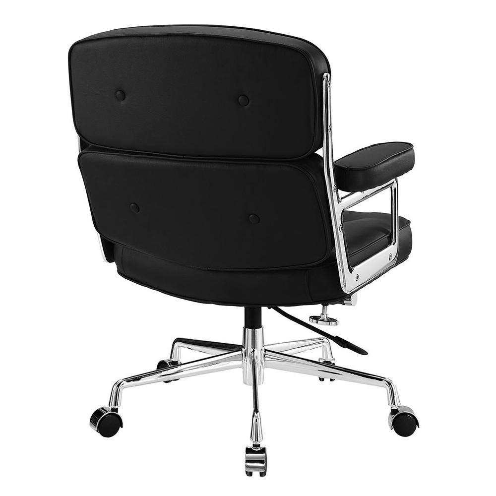 Кресло Eames Style Lobby Chair ES104 черная кожа - вид 4