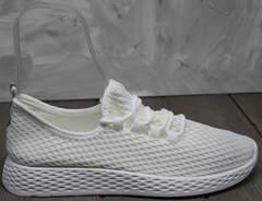 Легкие кроссовки женские Small Swan NB283-2 All White.