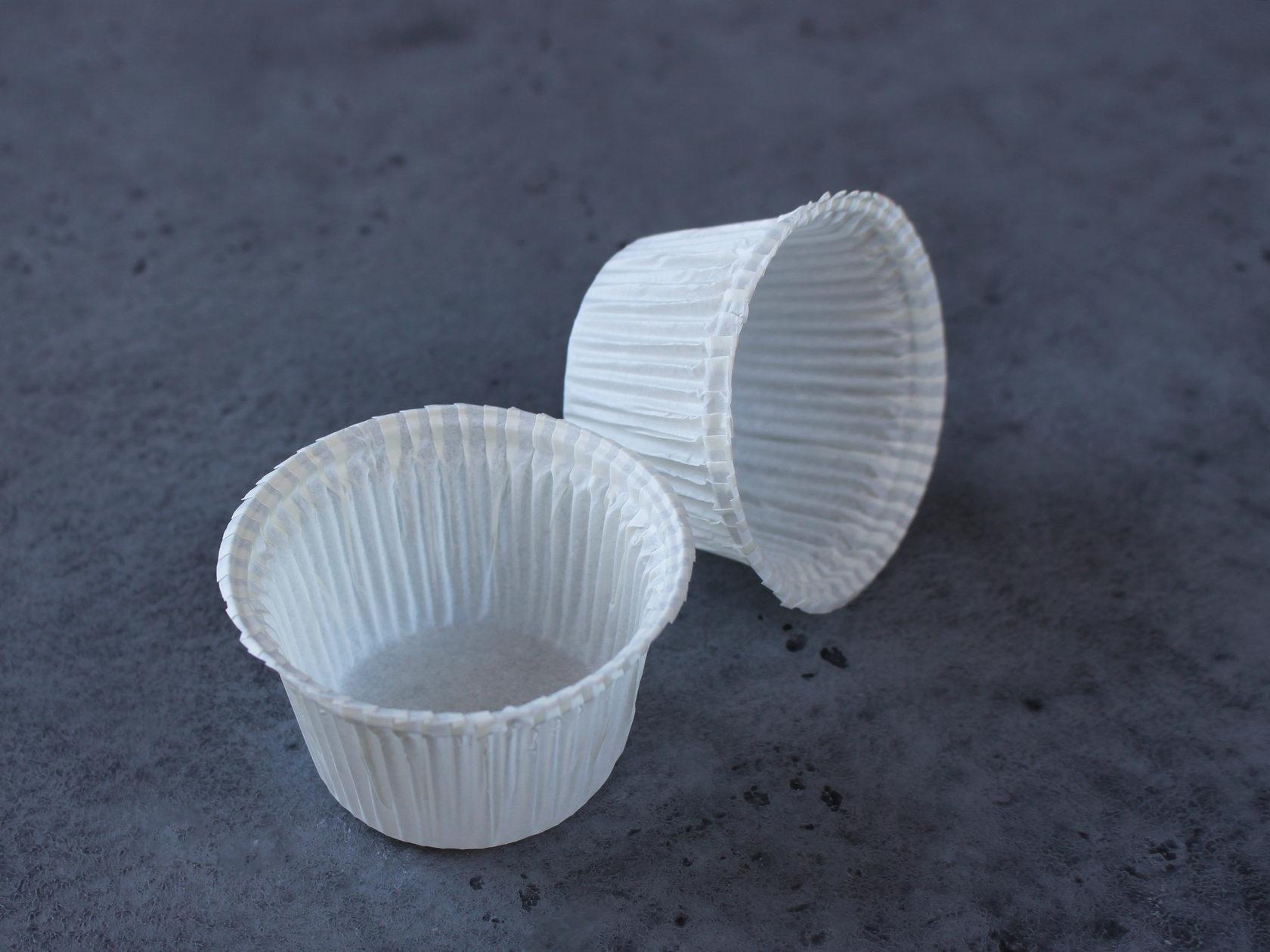 Капсулы белые для капкейков и маффинов 5x4 см, 20 шт