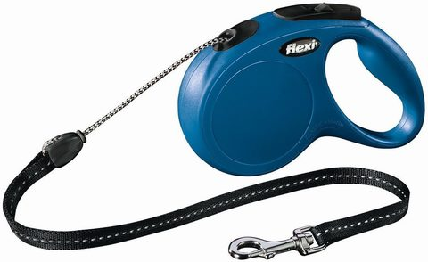 Flexi поводок-рулетка New Classic M (до 20 кг) 8 м трос (синяя)
