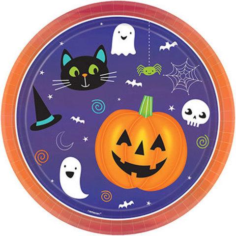 Тарелки большие Хэллоуин Друзья, 8 штук