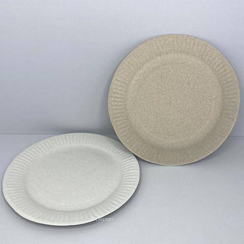 Тарелка бумажная круглая ламинированная d19 см (100 шт.)