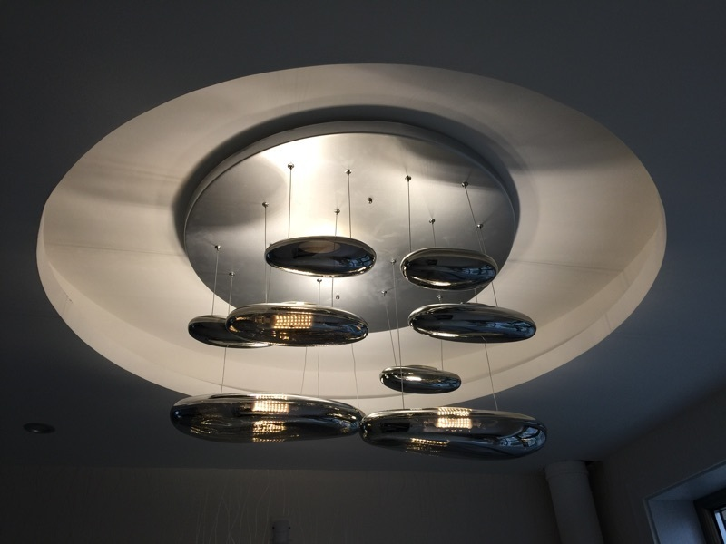 Подвесной светильник копия Mercury by Artemide (6 плафонов)