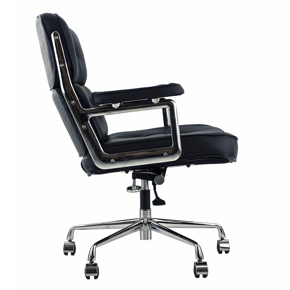 Кресло Eames Style Lobby Chair ES104 черная кожа - вид 5