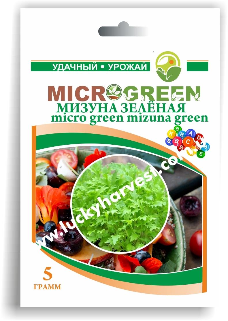 Микрогрин Мизуна Зеленая