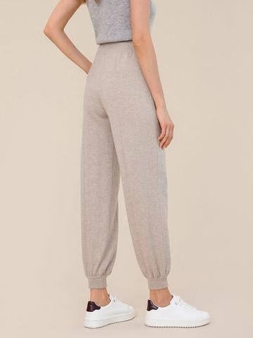 Женские брюки бежевого цвета из шерсти и кашемира - фото 3