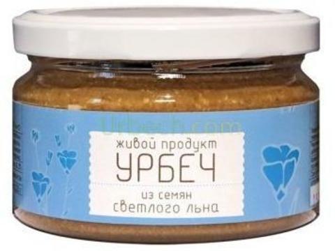 Живой продукт Урбеч из семян светлого льна, 225 гр