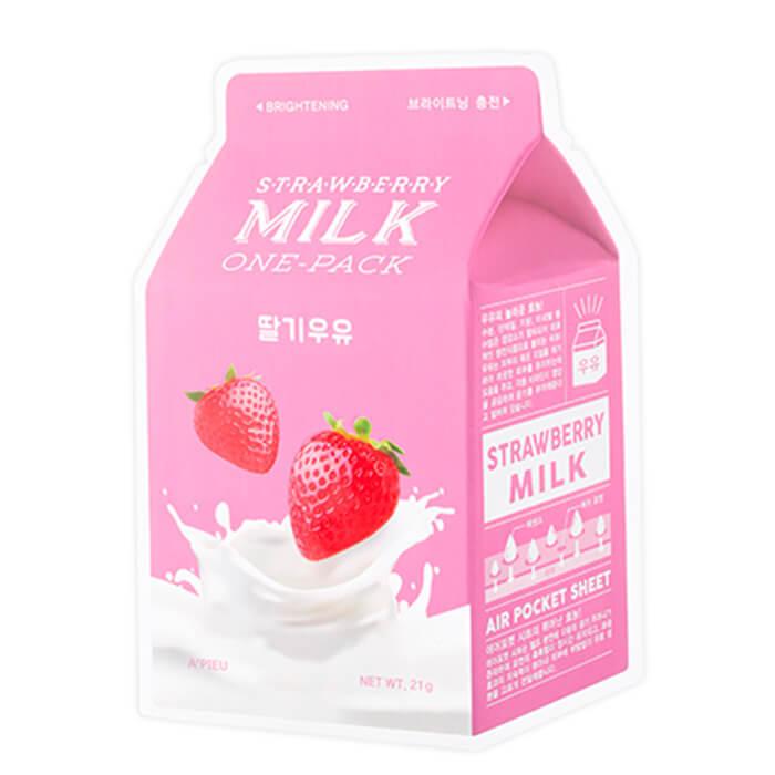 Тканевые Маска тканевая для лица A'PIEU Strawberry Milk One-Pack 21 мл tkanevaya-maska-a-pieu-strawberry-milk-one-pack-700x700.jpg