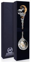 Серебряная ложка «Зодиак-Козерог» с позолотой