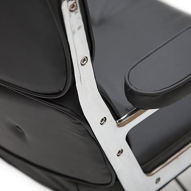 Кресло Eames Style Lobby Chair ES104 черная кожа - вид 6