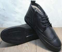 Купить зимние мужские ботинки с натуральным мехом Rifellini Rovigo C8208 Black