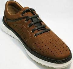 Городские кроссовки для повседневной носки мужские Vitto Men Shoes 1830 Brown White