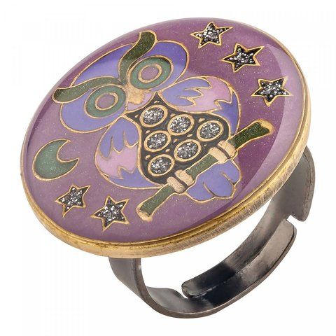 Кольцо Сова K27959-9 V