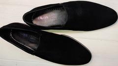 Замшевые лоферы черные мужские классика Ikoc 3410-7 Black Suede.