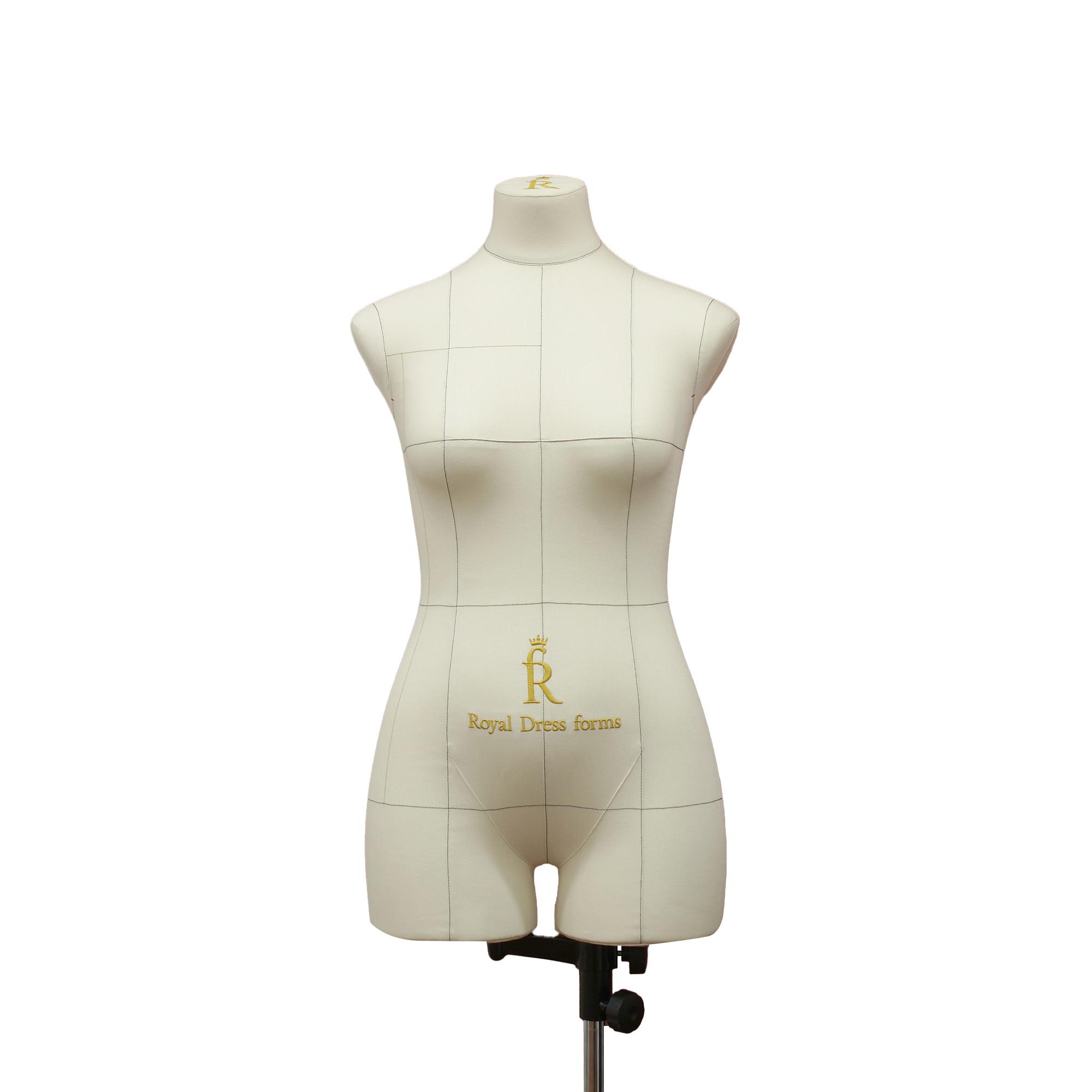 Манекен портновский Моника, комплект Стандарт, размер 44, тип фигуры Песочные часы, бежевый