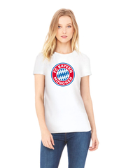Футболка с принтом FC Bayern Munchen (ФК Бавария) белая w001