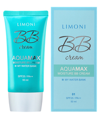 Увлажняющий BB крем для лица Limoni  Aquamax Moisture BB Cream тон №1, 40 мл