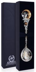 Серебряная ложка «Зодиак-Дева» с позолотой