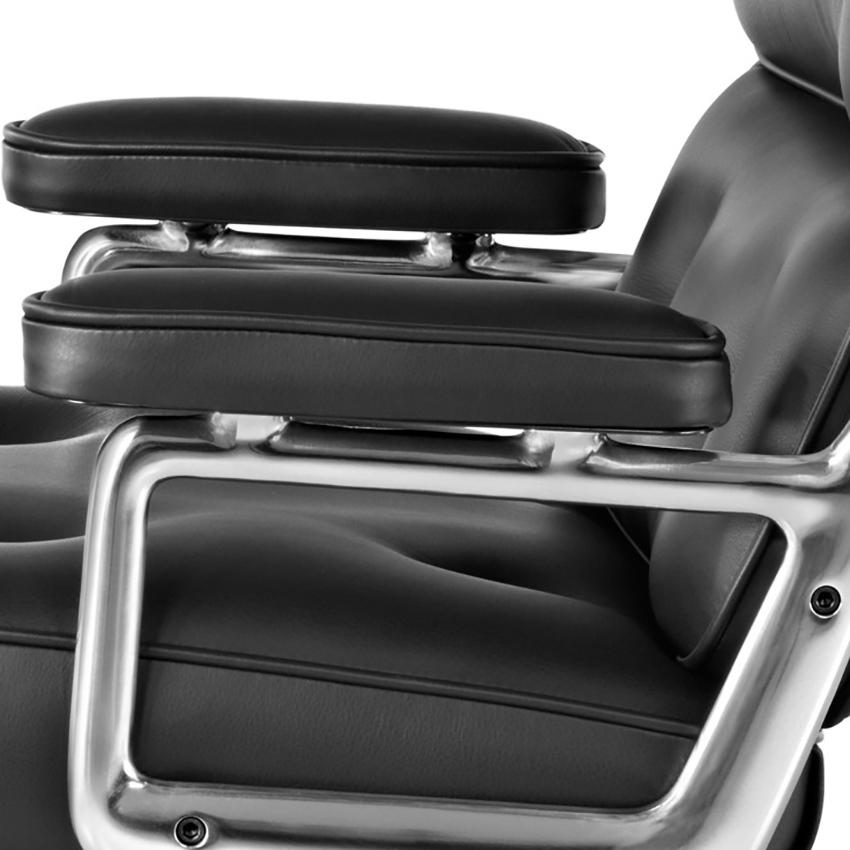 Кресло Eames Style Lobby Chair ES104 черная кожа - вид 7