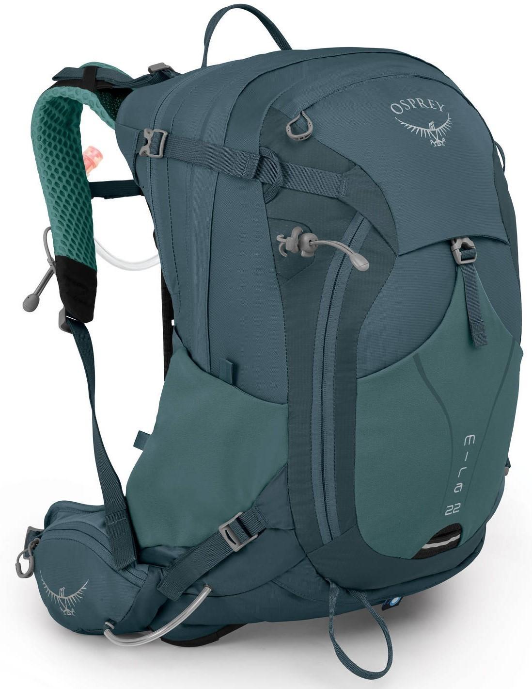 Туристические рюкзаки Рюкзак Osprey Mira 22 Bahia Blue Mira_22_S19_Side_Baha_Blue_web.jpg