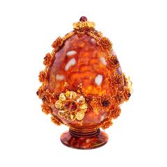 Сувенирное Пасхальное яйцо (натуральный янтарь, бисер), АВ-0766