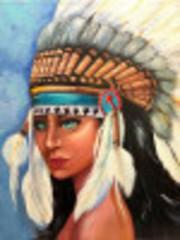 Aлмазная мозаика Индейская девушка