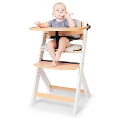 Стульчик для кормления Kinderkraft Enock White с подушкой