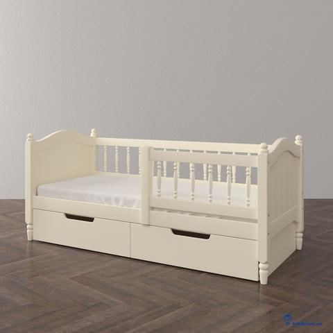 Кровать-диван (тахта) с ящиками и ограждающими бортиками (опции)