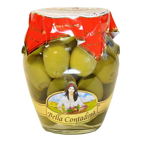 Оливки  гигантские без косточки амфора Bella Contadina 290 г