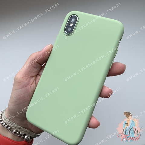 Чехол iPhone XS Silicone Slim Case /mint gum/ No Logo