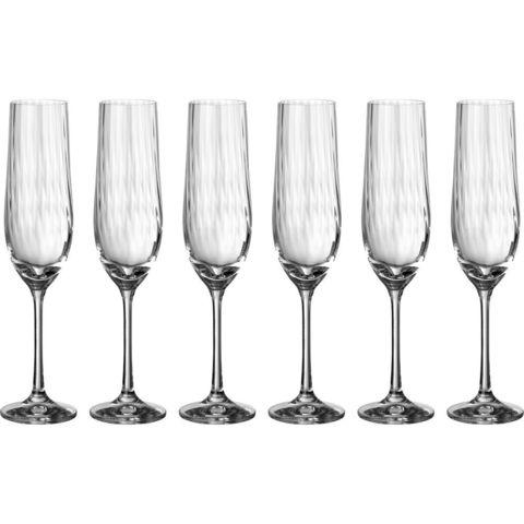 Набор бокалов для шампанского «Waterfall»  Bohemia 6 шт, 190 мл