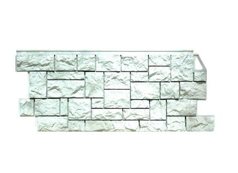 Фасадная панель Камень дикий ФайнБир - Жемчужный