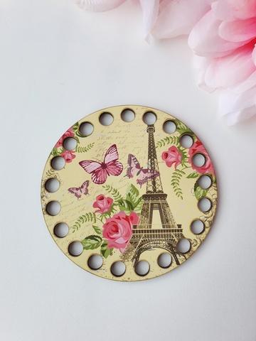 Круг диаметр 10 см, рисунок Французское настроение