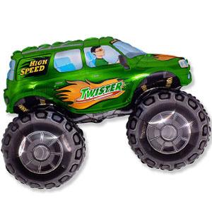 Фольгированный шар Джип зеленый 51см Х 73см