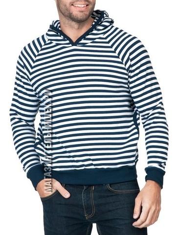 Купить свитер в морском стиле - Магазин тельняшек.ру 8-800-700-93-18Толстовка мужская (темно-синяя полоса) в Магазине тельняшек