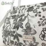 Сумка Саломея 278 цветы + белый