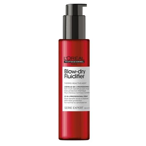 L'Oreal  Professionnel Blow Dry: Термозащитный крем для волос (Blow-Dry Fludifier), 150мл
