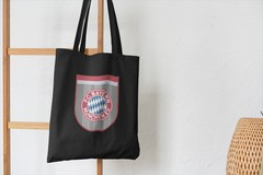 Сумка-шоппер с принтом FC Bayern München (ФК Бавария) черная 002