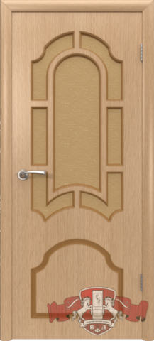 Дверь 3ДР1 (светлый дуб, остекленная шпонированная), фабрика Владимирская фабрика дверей