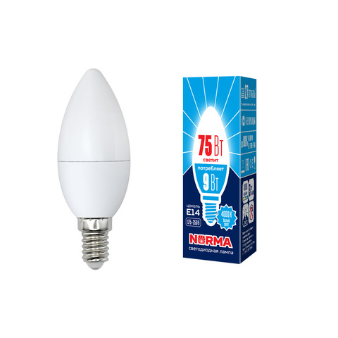 LED-C37-9W/NW/E14/FR/NR Лампа светодиодная. Форма