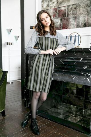 Фото платье в этническом стиле с поясом-шнуром - Платье З477-019 (1)