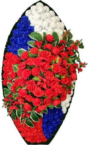 Венок из искусственных цветов розы, гвоздики